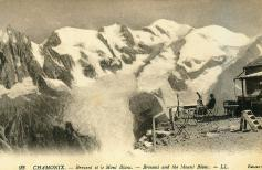Chamonix and the Mont Blanc vintage old photo