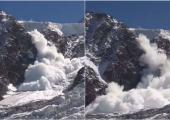 The avalanche broke out under the Col du Midi, in the Mont-Blanc massif. • © Philippe Nicollin.