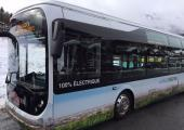 The 100% electric Bluebus in Chamonix. photo source: @www.radiomontblanc.fr
