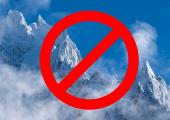 La Chamoniarde nous rappelle que les activités en montagne sont interdites, photo source @ facebook.com/chamoniarde