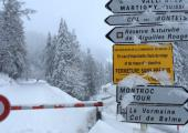 Chamonix - Vallorcine : fermeture du col des Montets. photo source : @http://www.radiomontblanc.fr