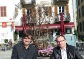 Eric Fournier, Président de la communauté de communes de la Vallée de Chamonix-Mont-Blanc et Didier Saussier, Directeur Régional de Gaz Réseau Distribution France (GRDF). Photo source: @www.facebook.com/Mairie-de-Chamonix-Mont-Blanc