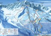 The Chamonix Grands Montets Ski Area map