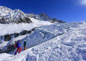 Le domaine skiable des Grands Montets est accessible via la télécabine de Plan Joran. Source photo @ chamonix.com.