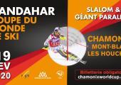 Kandahar 2020 official poster, photo source @facebook.com/ChamonixWorldCup
