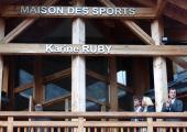 The maison des sports of Chamonix is now called Maison des sports Karine Ruby! Photo source: @www.facebook.com/Mairie-de-Chamonix-Mont-Blanc