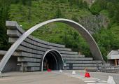 Le tunnel du Mont Blanc - Entrée italienne