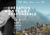 Operation Montagne Responsable 2019 poster, photo source @lafuma.com