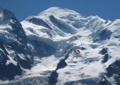 Mont-Blanc summit and the Bosses ridge