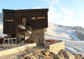 The new Refuge Albert 1er Hut, Glacier du Tour, Massif du Mont Blanc