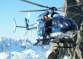 Hélicoptère de PGHM de Chamonix. Photo source: @pghm-chamonix.com