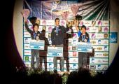 Men's podium, from left: Keiichiro Korenga (2nd), Marcello Bombardi (1st) and Yuki Hada (3rd). Photo source: @Rémi Fabregue