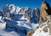 The Dome du Rochefort, Mont-Blanc