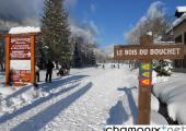 Cross-country ski trails in Chamonix Mont Blanc