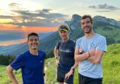 Martin Kern, Grégoire Curmer, and Baptiste Robin, will attempt to break the record on the Chamonix to Briançon crossing. Photo source @facebook.com/martinkernEndurance/