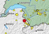 Earthquake in Chamonix  @Service Sismologique Suisse