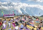 Chamonix Yoga Festival outdoors