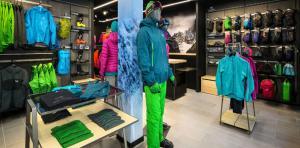 Le magasin Arc'teryx à Chamonix