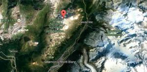 Aiguilles Rouges, Google maps location. photo source : @France 3 Régions