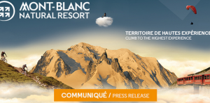 Press release of 19th July 2017 issued by Mont-Blanc Natural Resort
