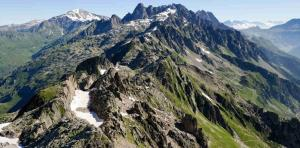 The Aiguilles Rouges in Chamonix. Photo source: @Google Maps.