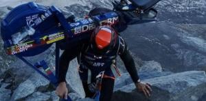 Matthew Disney a tenté de gravir le Mont-Blanc avec un rameur, photo source @ bbc.com