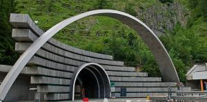 The Mont Blanc Tunnel - Italian Entrance