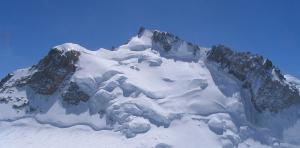 Mont Blanc du Tacul (4,248) and Mont Maudit (4.465m), from the north-ouest