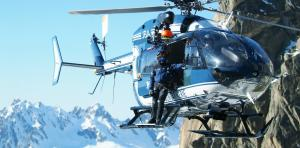 The PGHM of Chamonix are having a busy summer. PGHM Chamonix helicopter, credit @pghm-chamonix.com