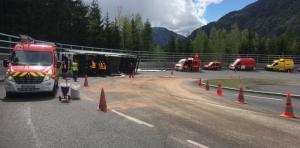 Second turn of the access ramp to the Mont Blanc tunnel (RN205). photo source: @radiomontblanc.fr
