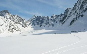 Ski aux Grands Montets, photo @ www.snow-forecast.com
