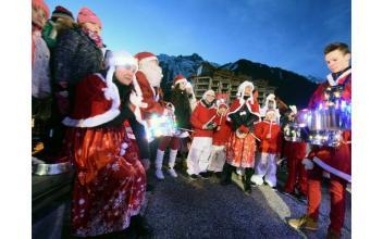 Les fêtes de Noël ont commencé à Chamonix, source photo @LeDauphine