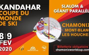 Affiche officielle de Kandahar 2020, source photo @ facebook.com / ChamonixWorldCup