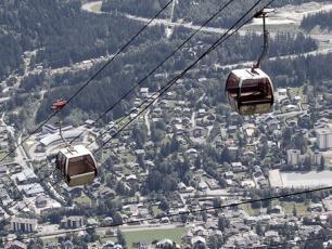 Plan Praz Gondola in Chamonix Brevent ski resort