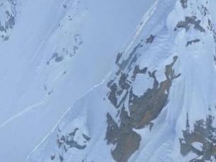 avalanche au col de l'aiguille Verte, Photo @ PGHM Chamonix