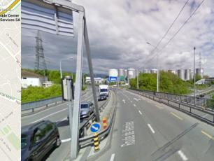 Cross the bridge, continue on Route de Vernier