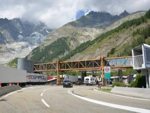 Mont Blanc tunnel Italian side, by François Trazzi, licensed under CC BY-SA 3.0, found on https://commons.wikimedia.org