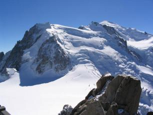 The North Face of Mont Blanc du Tacul from the Aiguille du Midi