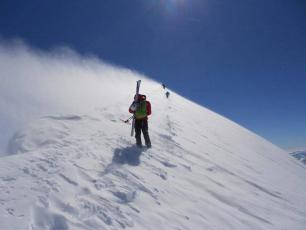Mont Blanc Summit ridge