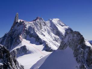 Aiguille de Rochefort et le Dent du Géant, Massif du Mont-Blanc