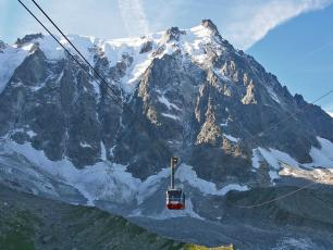 The cable car with the highest vertical ascent in the world