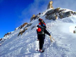 Climbers Mont Blanc Route