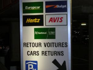 P21, used for car hire pick-up and return in the French sector