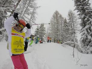 The children of Les Houches French ski school. Photo source: @www.facebook.com/ESF-les-Houches