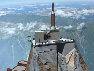 La nouveau plate-forme d'Aiguille du Midi, photo par CMB