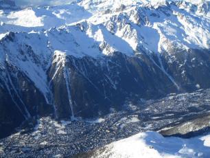 Chamonix valley yesterday with Brevent/Flegere