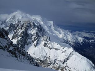 Chamonix valley yesterday
