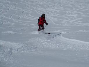 Grands Montets top yesterday