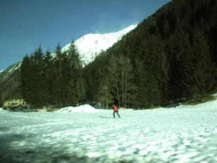 Nordic skiing near Argentiere today