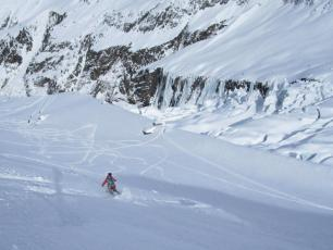Grands Montets backcountry yesterday